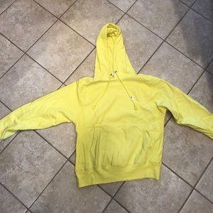 Bright yellow Champion hoodie